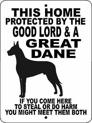 GREAT DANE Guard Dog Aluminum Sign  Vinyl GRAPHICS APPLIED  GLGD1