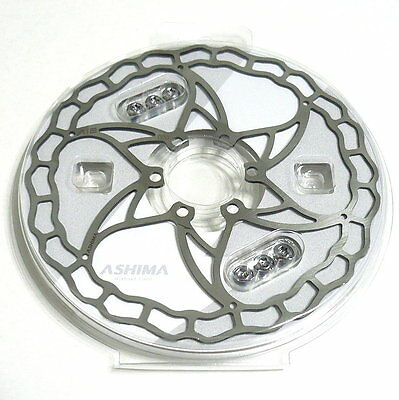 The World's Lightest ASHIMA Ai2 Disc Rotor, 160mm, 73g, Silver, R04