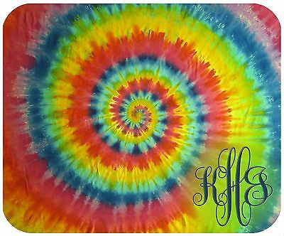 Mouse Pad Custom Monogrammed Thick Mousepad-Tie Dye-Tie Dye Only/monogram/text