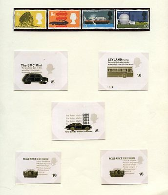 GB 1966 TECHNOLOGY UNISSUED P.O ESSAYS...SET of 5