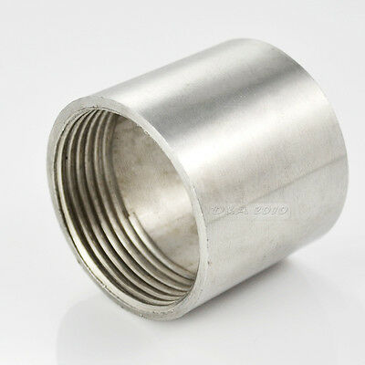 "New 1/4"" Female x 1/4"" Female 304 Stainless Steel threaded Pipe Fitting BSPT"