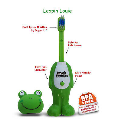 Brush Buddies Poppin Frog Louie  - Children Toothbrush - Gentle on gums