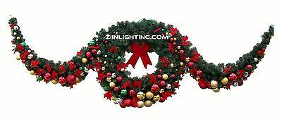 Christmas Wreath Double Sided with Swags