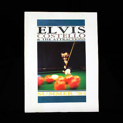 Elvis Costello And The Attractions - Tour Programme Summer 1984