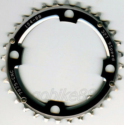 gobike88 Driveline black chainring chainring 32T BCD 104mm 38g MTB CHAINRING 201