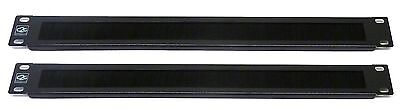 """2X 1U 19"""" Brush Cable Tidy Panel Bar for Data Network Lan Rack Mount Cabinet"""