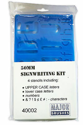 Plastic Sign Writing Stencil Kit Letters & Numbers Alphabet Upper Case (50mm)