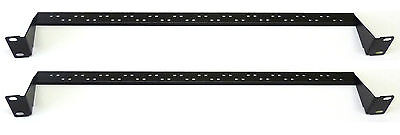 """2X 1U 19"""" Universal Rear Cable Tidy Bars, Patch Panel Data Network Rack Cabinet"""