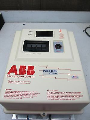 ABB / PARAJUST AC DRIVE G00600A00 460V 3PH EXCELLENT USED TAKEOUT MAKE OFFER !!