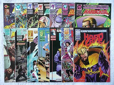 HARDCASE • mixed lot of 14 comics • #2 to #26 (Malibu Ultraverse 1993-95) Mint!