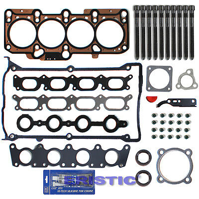 96-06 1.8L AUDI VOLKSWAGEN Turbo MLS Head Gasket Set+Head Bolts kit W/ silicone