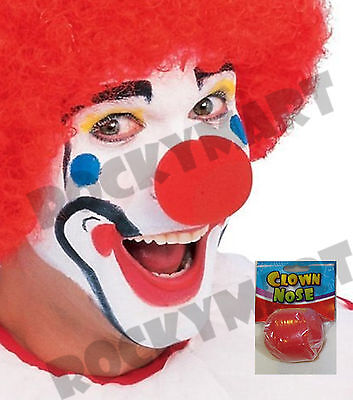Red Foam Clown Nose - Circus Carnival Birthday Party Halloween Rudolph Costume