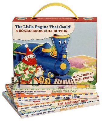 THE LITTLE ENGINE THAT COULD 4 Board Book Collection Birthday Bike,Saves the Day