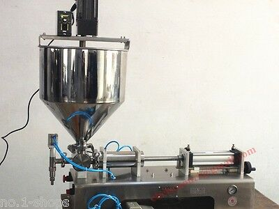 Cream Shampoo Cosmetic  Automatic Filling Machine for 100-1000ml with mixer