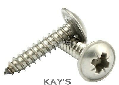 POZI FLANGED SELF TAPPING SCREWS A2 STAINLESS STEEL TAPPERS No.10 (4.8mm dia.)