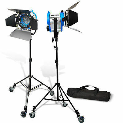 2 x Movie Light 650W Fresnel Tungsten Spotlight Barndor Movie Lighting as arri