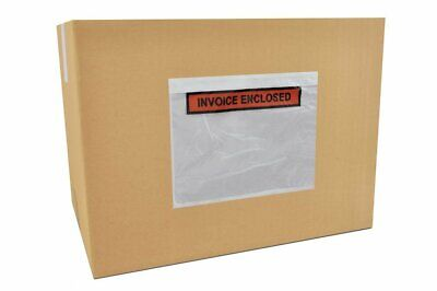 """1000 7"""" x 5.5"""" ( Clear Face Strip ) Packing List Invoice Enclosed Envelopes"""