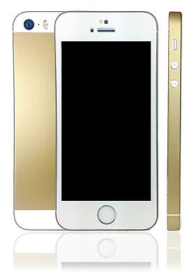 buy online f3658 18a08 CHAMPAGNE GOLD SKIN Sticker For iPhone 5s with chamfer protector wrap cover  case