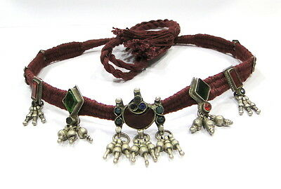 Vintage Antique Ethnic Tribal Old Silver Choker Necklace India