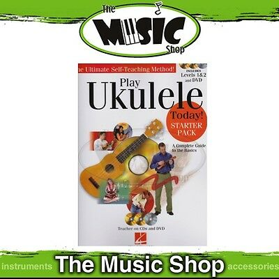 New Play Ukulele Today Starter Pack Music Tuition Book with 2 CDs & DVD