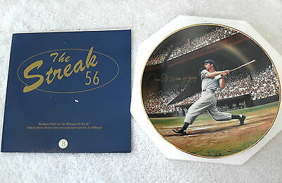 "JOE DIMAGGIO ""THE STREAK"" SIGNED IN PERSON LTD ED PLATE Extremely Rare Autograph"