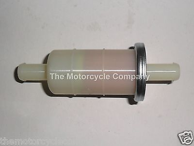 PETROL FUEL FILTER for HONDA MOTORCYCLES SCOOTERS & QUADS INLINE10mm in & out