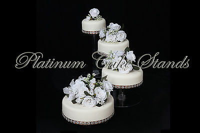 4 TIER CASCADE WEDDING CAKE STAND