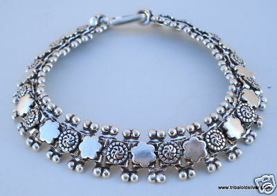 Traditional Design Silver Bracelet Bangle Rajasthan Ind