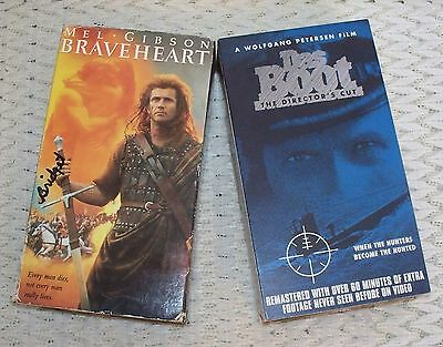 ☆The Boot & Braveheart☆2 Set of 2 Tapes Each (VHS) Action/Adventure☆