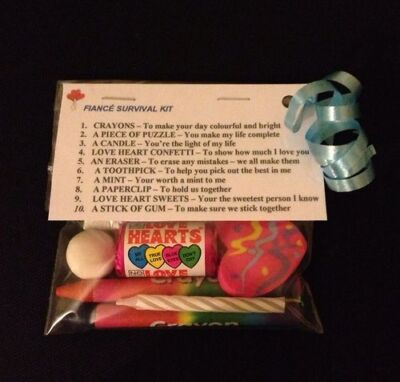 Fiancé Survival Kit Unusual Engagement Birthday Gift Valentines Day Gift For Him