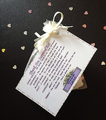 THANK YOU SURVIVAL KIT Lovely Thank You Gift For Him Her Keepsake Gift