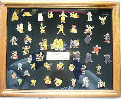 3x Framed McDonalds Pin sets McDonaldland proof/2500 +96 Cinderella & Snow White