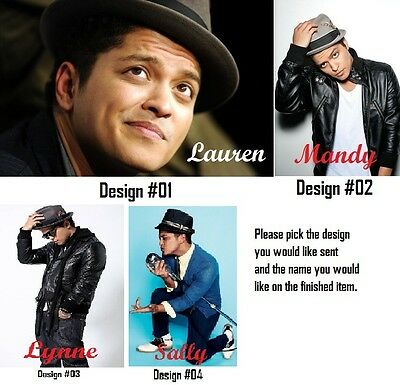 BRUNO MARS - Key Ring - Personalized - Add Your Name.