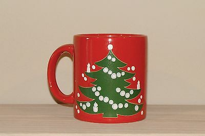 ~Large RED Mug in the Christmas Tree Pattern by Waechtersbach West Germany