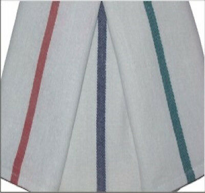 24 15x24 BARBER SHOP KITCHEN TOWELS HERRINGBONE BLUE STRIPE 22OZ  QUICK DRYING