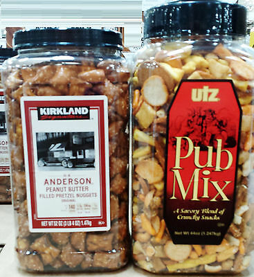 Kirkland Signature or Utz Party Salty Pretzels Crunchy Snacks Mix ~ Pick One