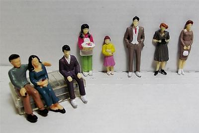 G Gauge-1:32 Scale Model Figures-Hand Painted-8 Pieces-8 Different Poses