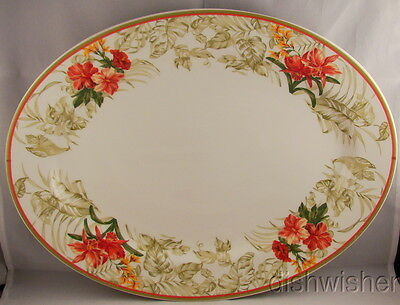 "Waverly China PARADISE ISLAND  14 3/8"" Oval Platter"