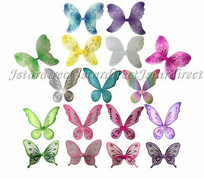 Fairy Wings Butterfly TinkerBell Pixie Dress Up Costume Double Layer Quality