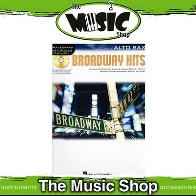 New Broadway Hits for Alto Saxophone Music Book & CD - Alto Sax
