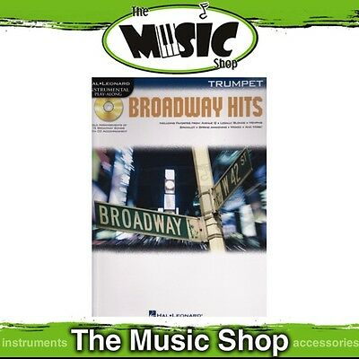 New Broadway Hits for Trumpet Music Book & CD