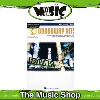 New Broadway Hits for Trombone Music Book & CD