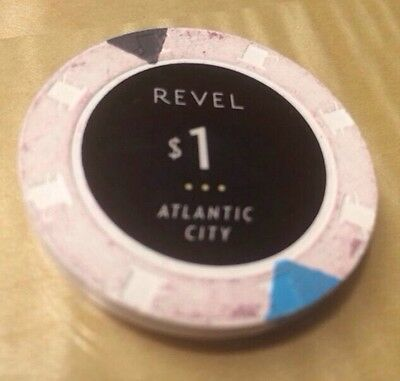 $1 Revel Collectible Atlantic City Casino Chip 1 Lucky Good Luck AC
