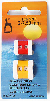 Pony Knitting Row Counter - 2mm to 10mm - Small Large Jumbo and Combi Sizes