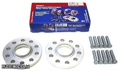 H&R 15mm Hubcentric Wheel Spacers Honda Civic 5x114.3 EP1 EP2 EP3 EP4 01-06