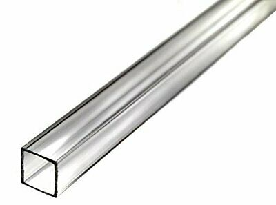 "72"" Acrylic Square Tube (Clear) - 1-3/4"" ID x 2"" OD x 1/8"" Wall (Nominal)"