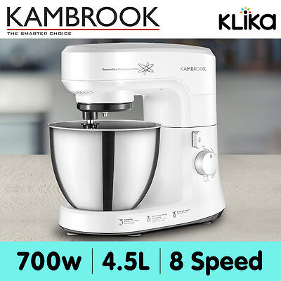 Kambrook KEM800WHT 4.5L Electric Bench Top Mixer/Beater Whipping/Kneading 700W