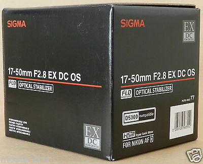 New Sigma 17-50 mm F/2.8 EX DC OS HSM Lens For Nikon Free Shipping from Japan