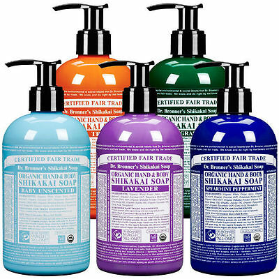 Dr Bronner's Shikakai Liquid Hand Soap Shower Gel Organic Fair Trade  356ml 12oz
