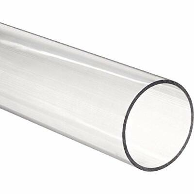 "48"" Polycarbonate Round Tube Clear - 1/4"" ID x 1/2"" OD x 1/8"" Wall (x2)(Nominal)"